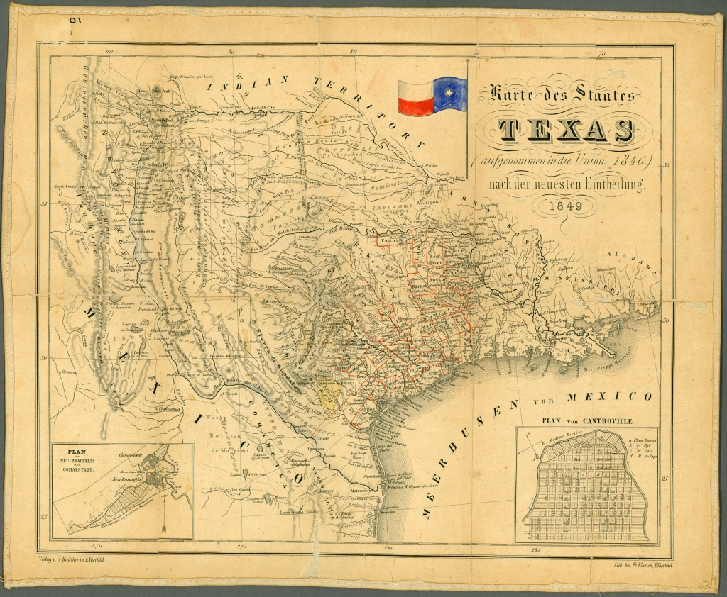Texas Historical Maps - Perry-Castañeda Map Collection - Ut Library - Old Texas Maps Prints