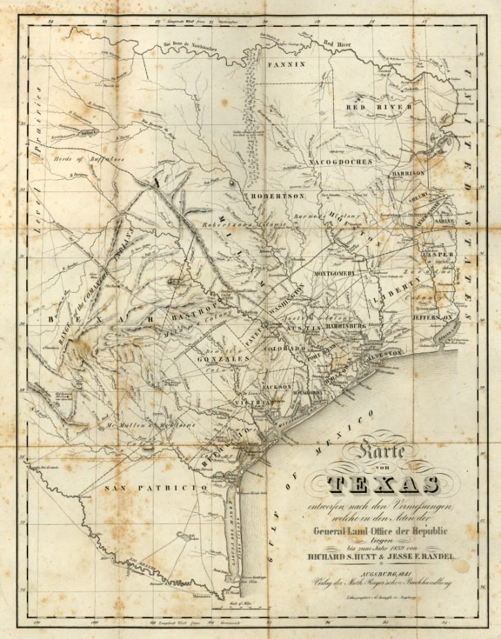 Texas Land Grants Map