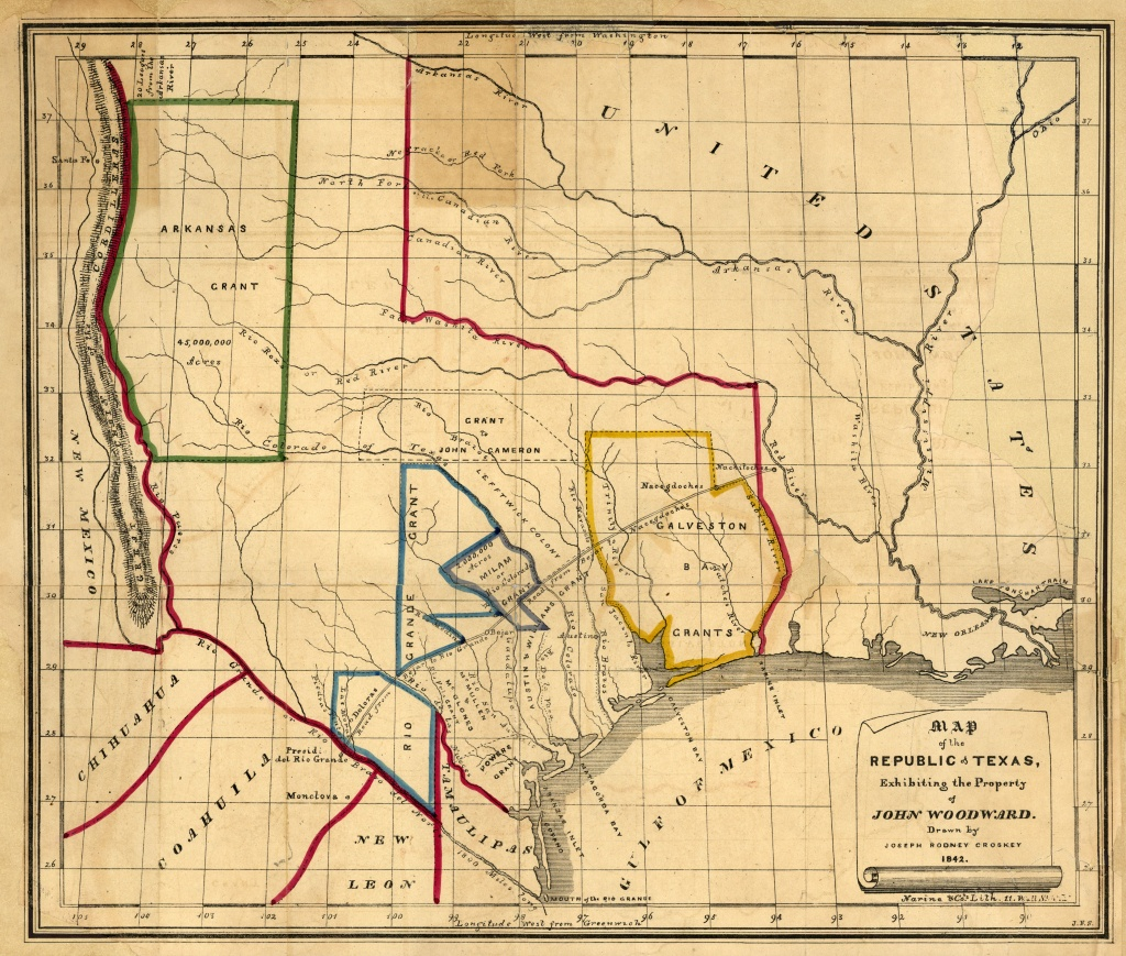 Texas Historical Maps - Perry-Castañeda Map Collection - Ut Library - Texas Map 1846