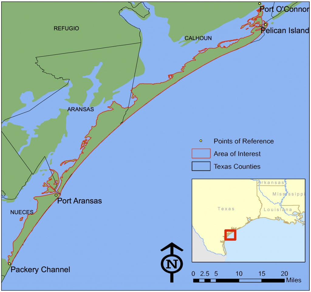 Texas Invasives - Map Of Port Aransas Texas Area