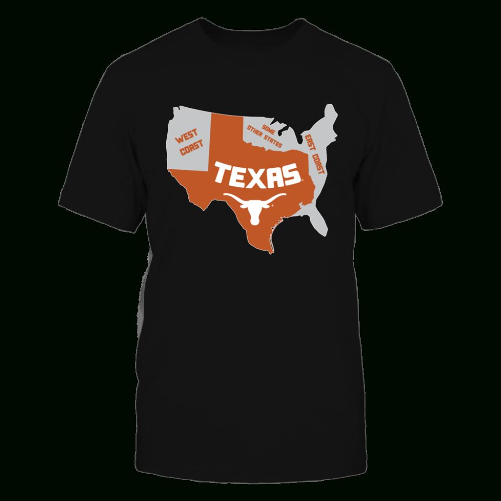 Texas Longhorns - Texas Map | T-Shirts | Texas Longhorns, Digital - Texas Not Texas Map T Shirt
