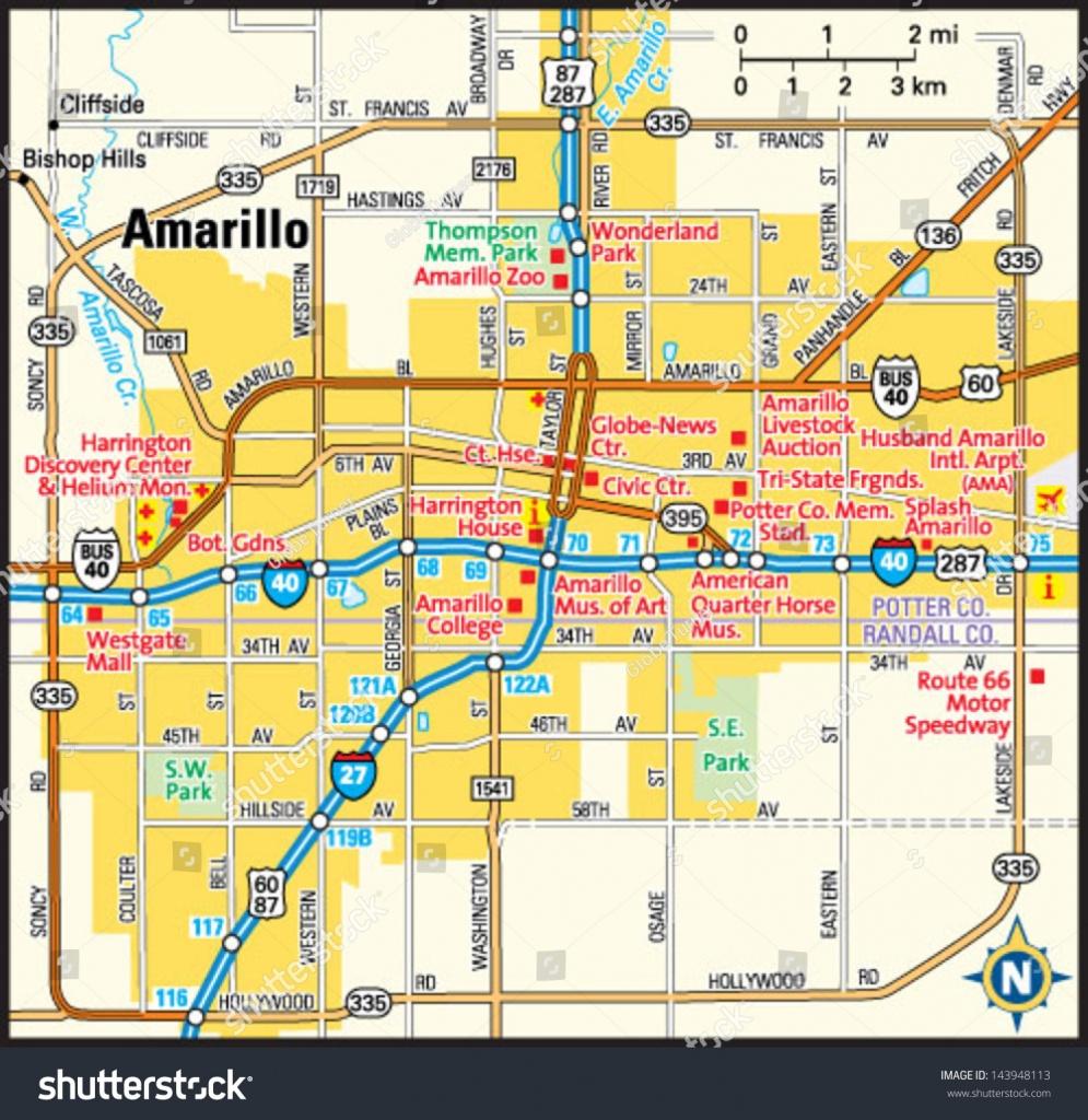 Texas Map Amarillo   Business Ideas 2013 - Printable Map Of Amarillo Tx