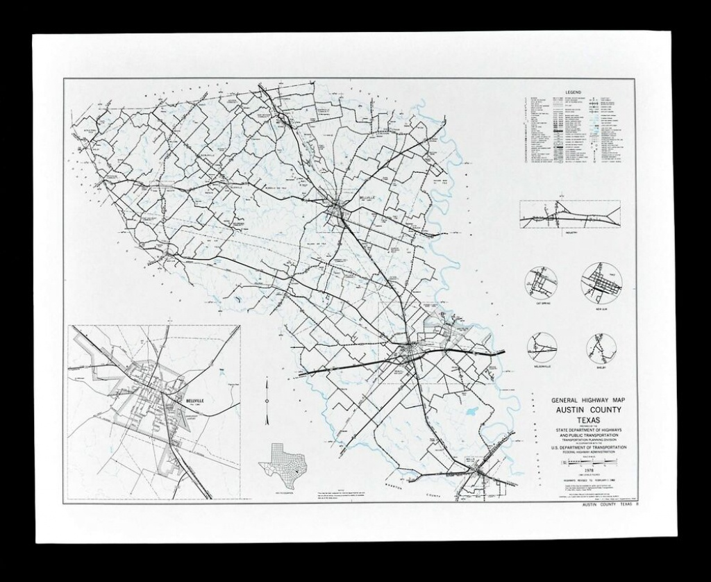 Texas Map Austin County Sealy Belleville Town Plan Sealy Wallis Cat - Sealy Texas Map