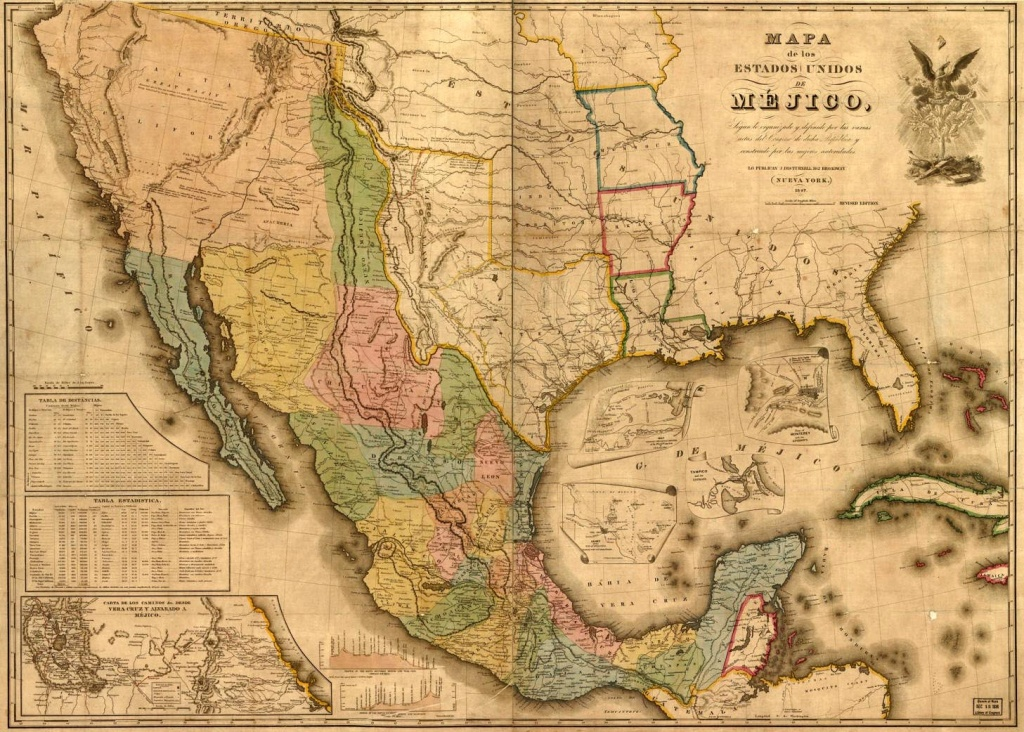 Texas Map During The Mexican War - Texas Civil War Map