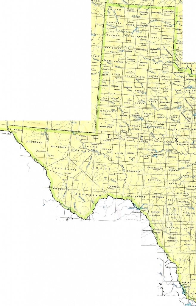 Texas Maps - Perry-Castañeda Map Collection - Ut Library Online - Texas Map With County Lines