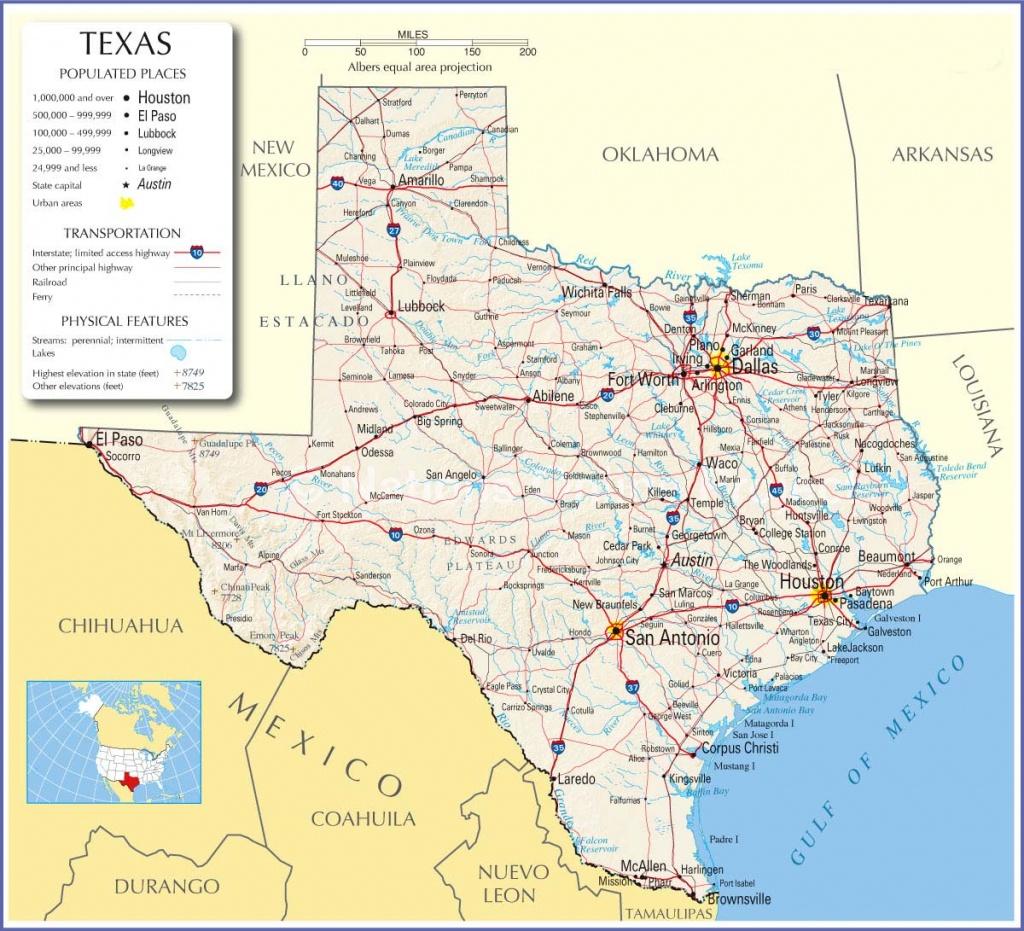 Texas Map,texas State Map,texas State Road Map, Map Of Texas - Texas Arkansas Map
