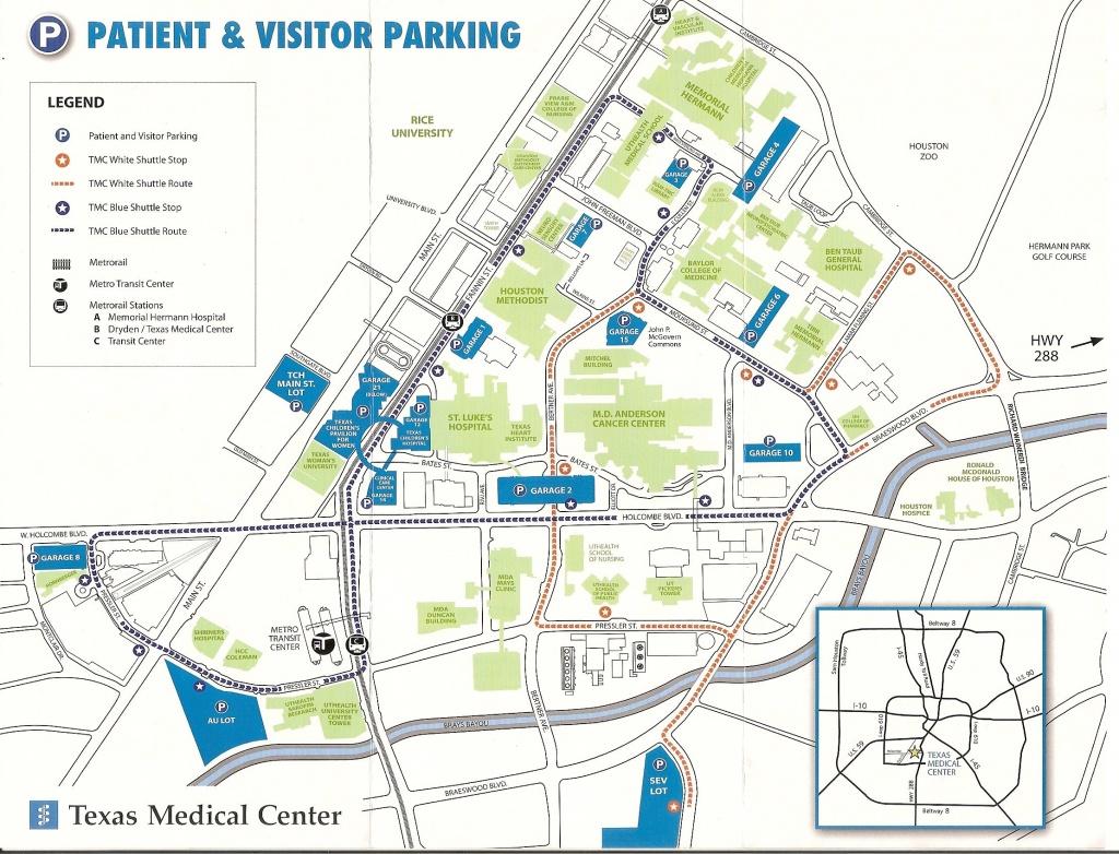 Texas Medical Center Map   Map 2018 - Texas Medical Center Map