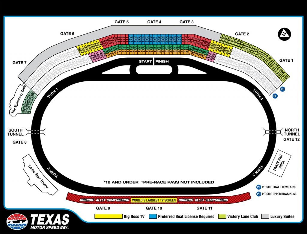 Texas Motor Speedway Map | Dehazelmuis - Texas Motor Speedway Parking Map