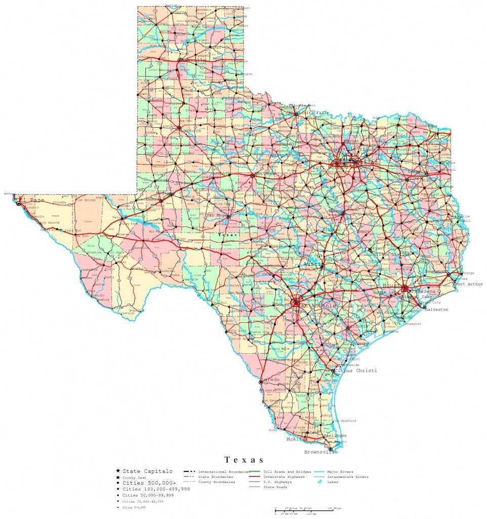 Texas Printable Map - Texas Map Outline Printable
