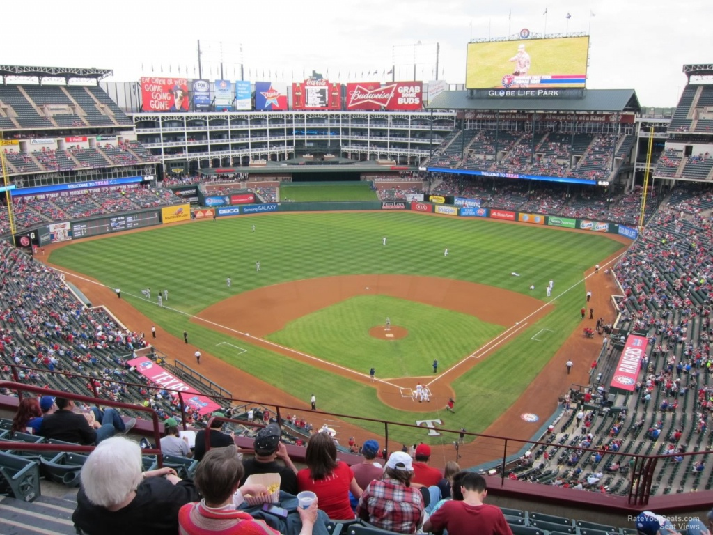 Texas Rangers Globe Life Park Seating Chart & Interactive Map - Texas Rangers Stadium Seating Map