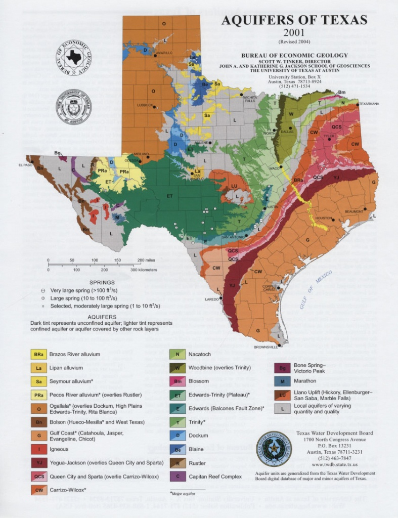 Texas Real Estate Sales Aquifer Maps - Texas Maps For Sale