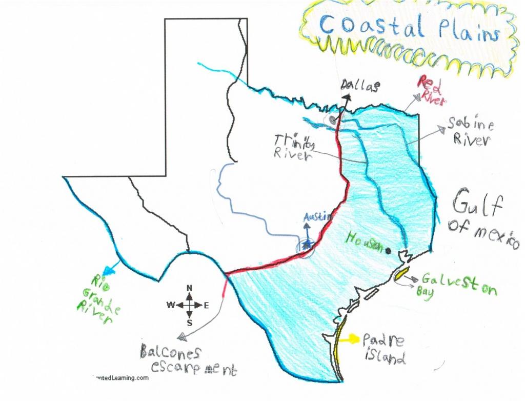 Texas Regions Project: Texas Region Maps - Map Coastal Texas