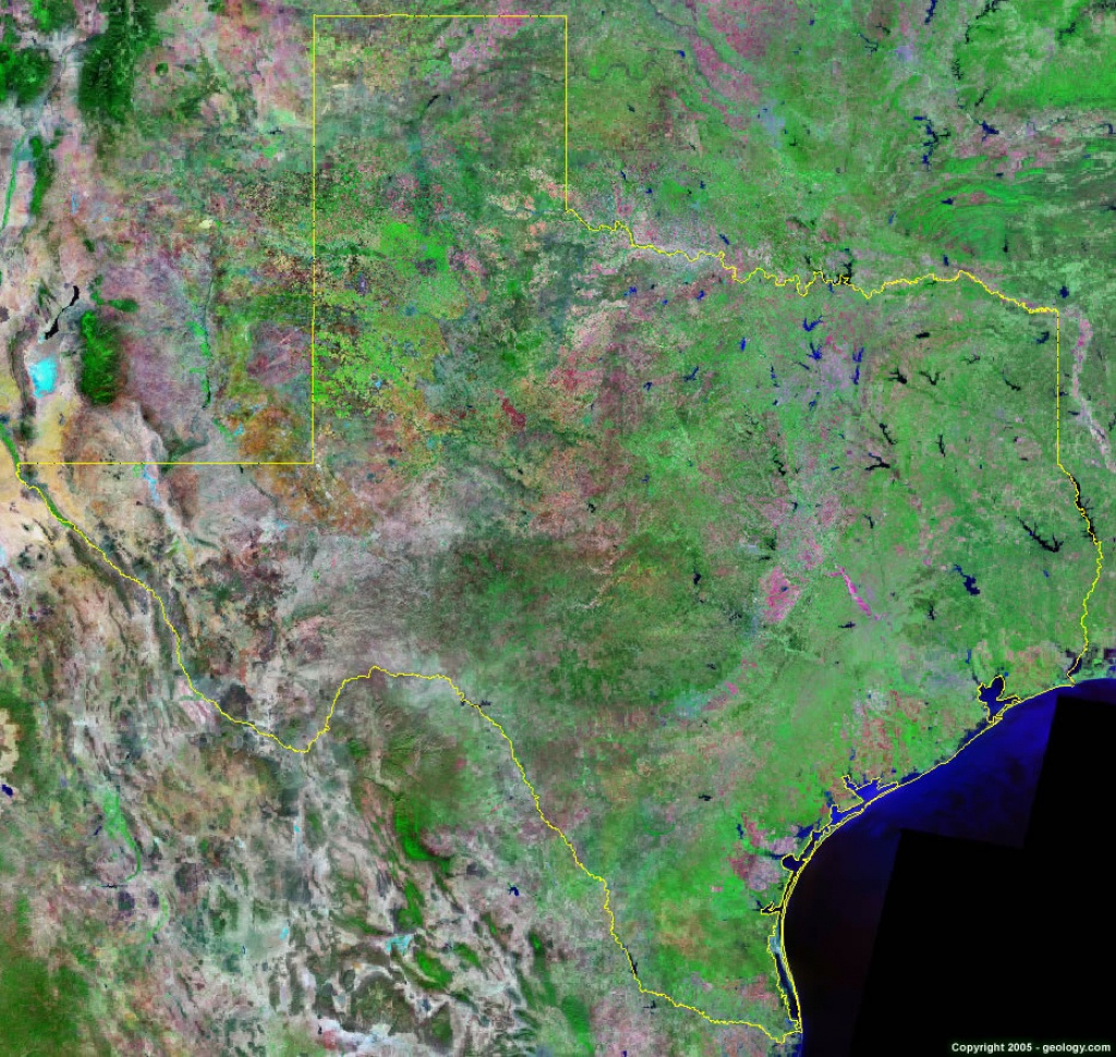 Texas Satellite Images - Landsat Color Image - Google Satellite Map Of Texas