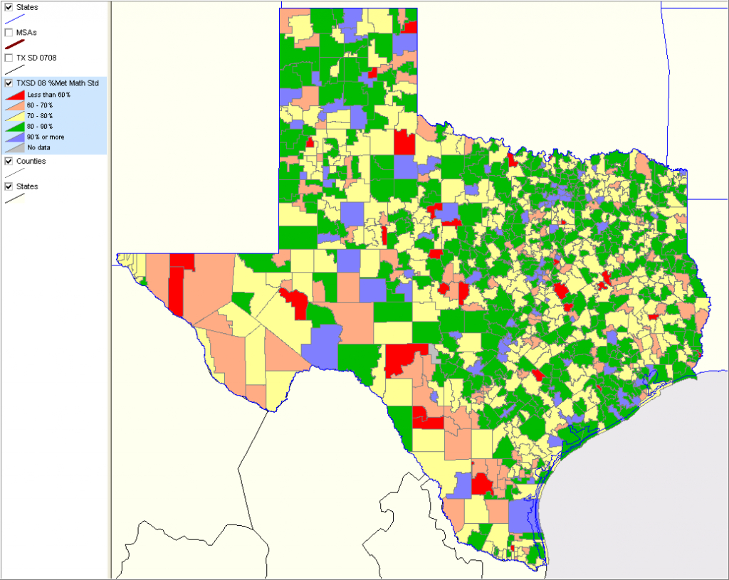 Texas School District Performance Analysis - Texas School District Map By Region