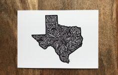 Texas State Art Texas Map Drawing Geometric Texas Texas | Etsy   Texas Map Artwork
