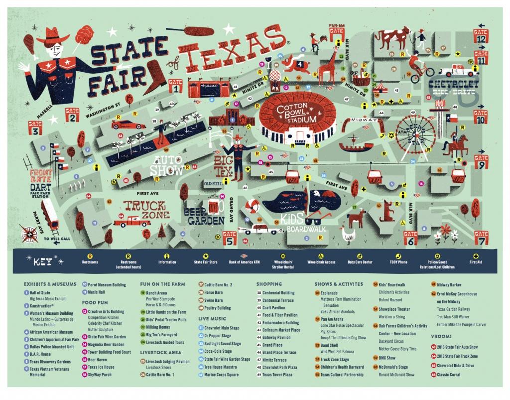 Texas State Fair Map | Rtlbreakfastclub - Texas State Fair Parking Map