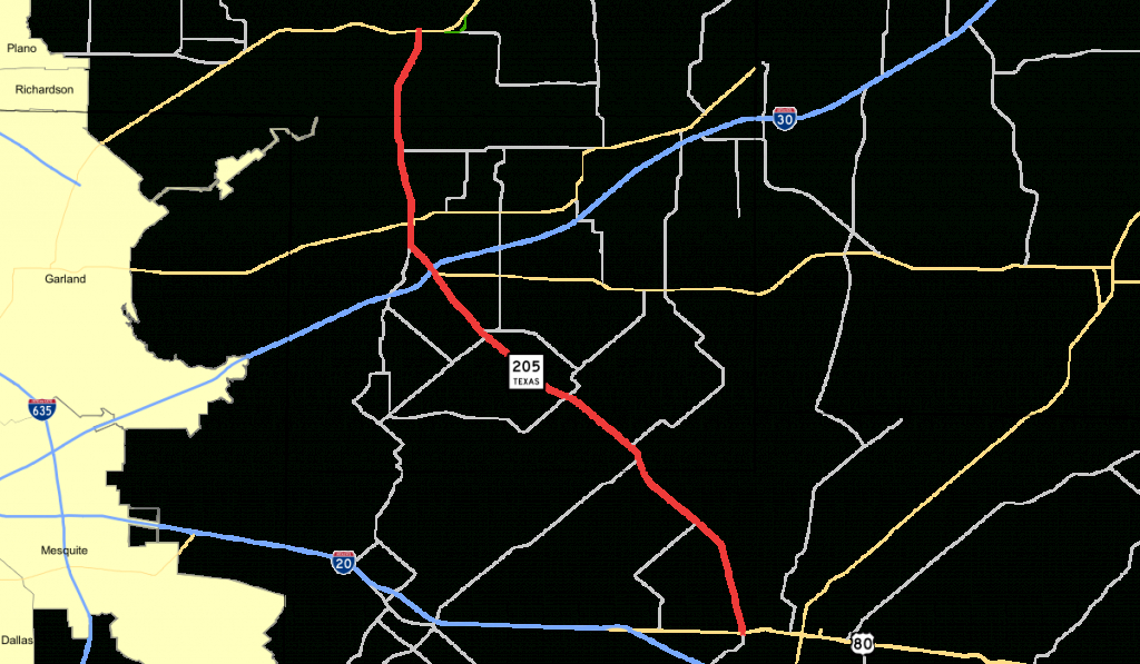 Texas State Highway 205 - Wikipedia - Terrell Texas Map