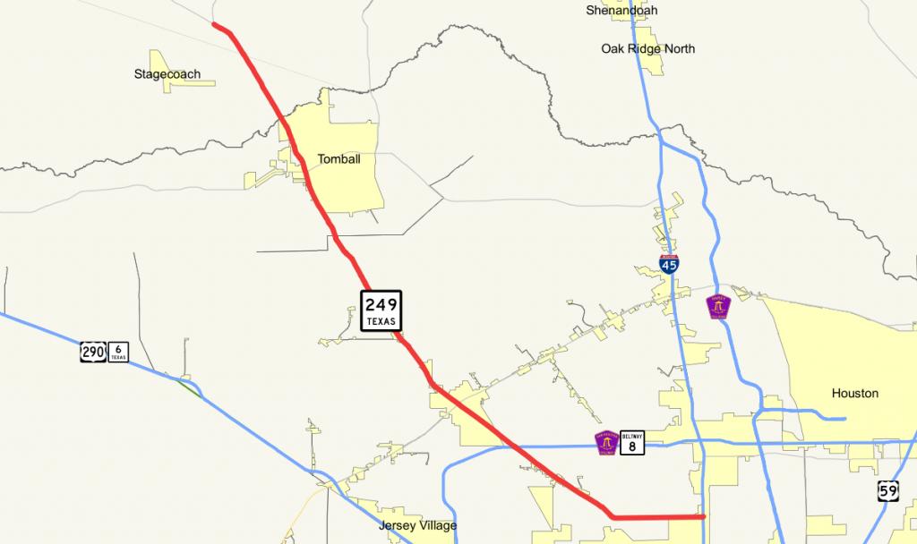 Texas State Highway 249 - Wikipedia - Magnolia Texas Map