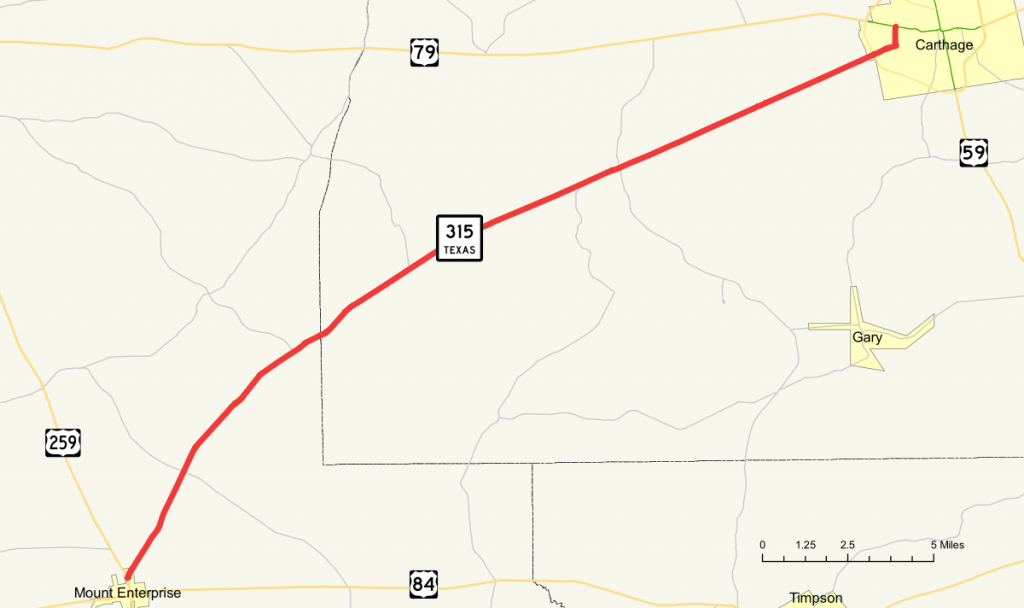 Texas State Highway 315 - Wikipedia - Carthage Texas Map