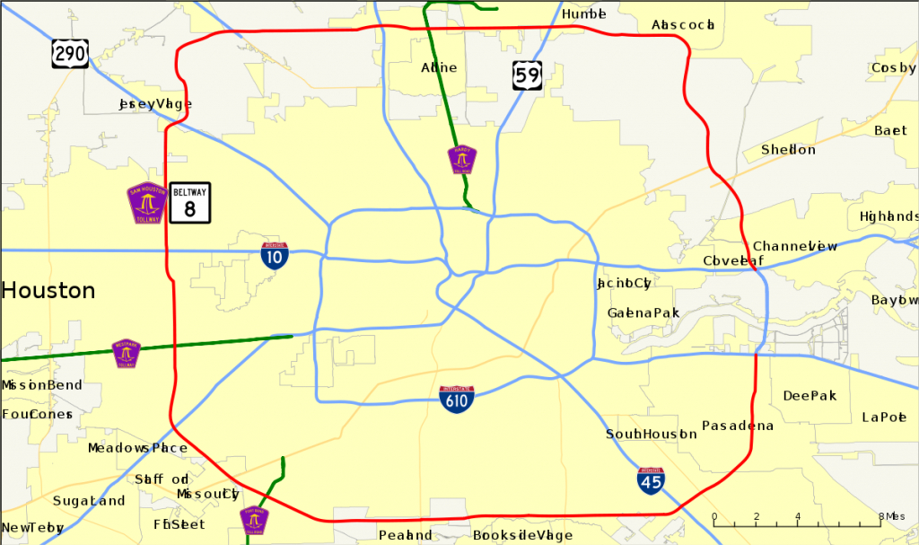 Texas State Highway Beltway 8 - Wikipedia - Porter Texas Map