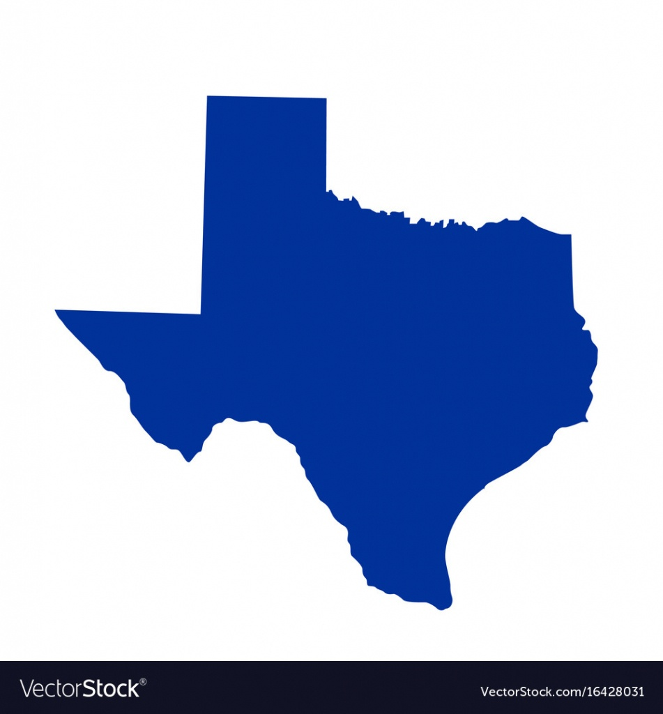 Texas State Map - Texas Map Vector Free