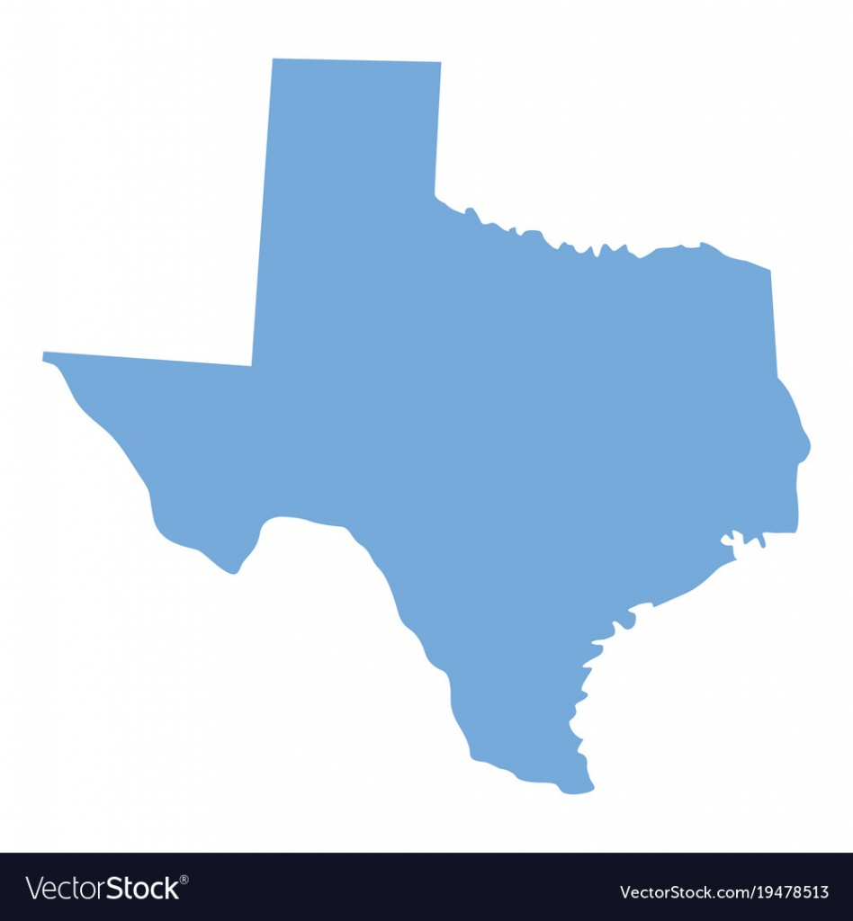 Texas State Map Vector Image - Texas Map Vector Free