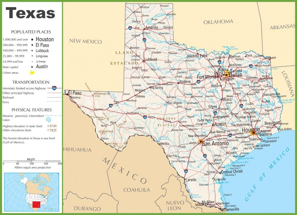 Texas State Maps | Usa | Maps Of Texas (Tx) - Show Me A Map Of Texas Usa