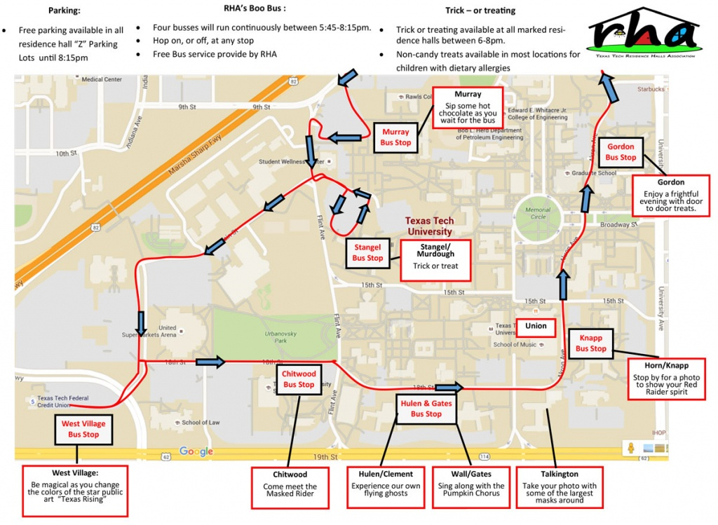 Texas Tech Offers Annual Tech Or Treat, Safetreat Events To Lubbock - Texas Tech Housing Map