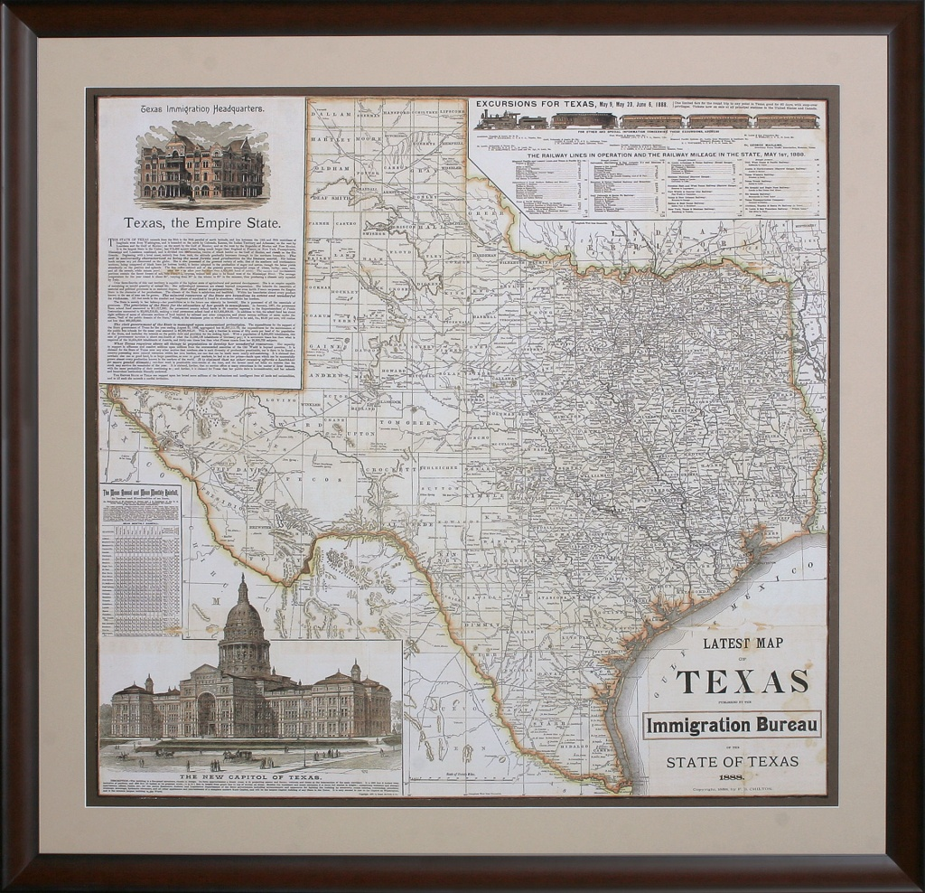 Texas - The Empire State - Framed Texas Map