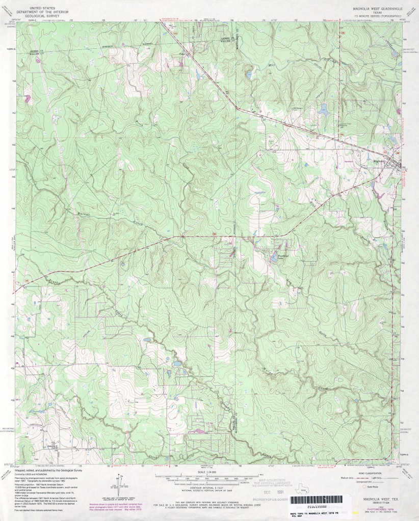 Texas Topographic Maps - Perry-Castañeda Map Collection - Ut Library - Magnolia Texas Map