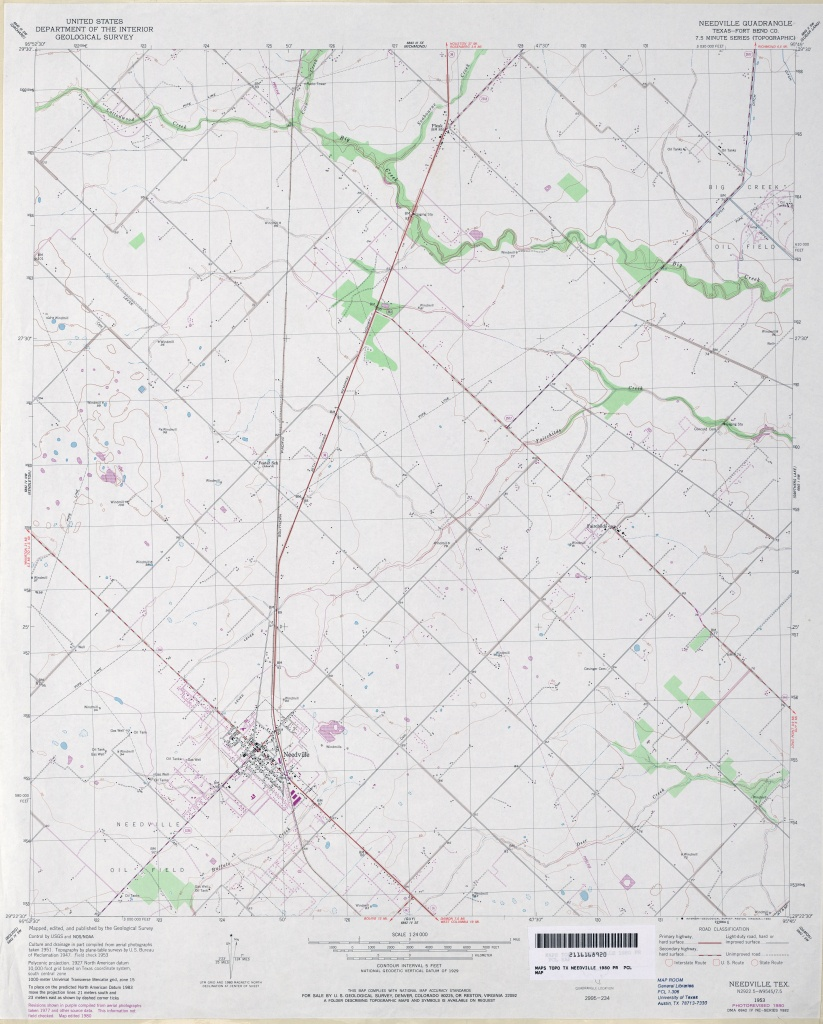 Texas Topographic Maps - Perry-Castañeda Map Collection - Ut Library - Topographic Map Of Fort Bend County Texas