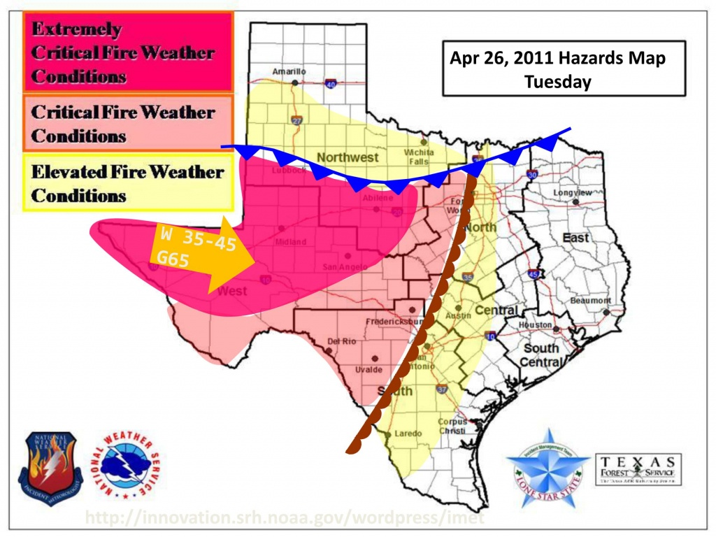 Texas Weather Map Today | Woestenhoeve - Current Texas Wildfires Map