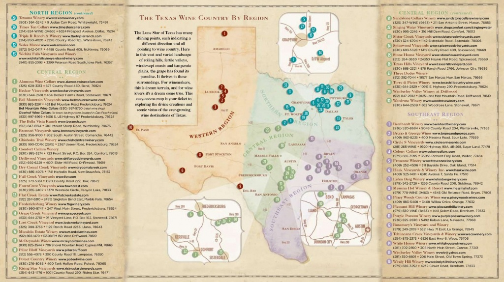 Texas Wine Country Map -Texas Has Eight Officially Recognized - North Texas Wine Trail Map