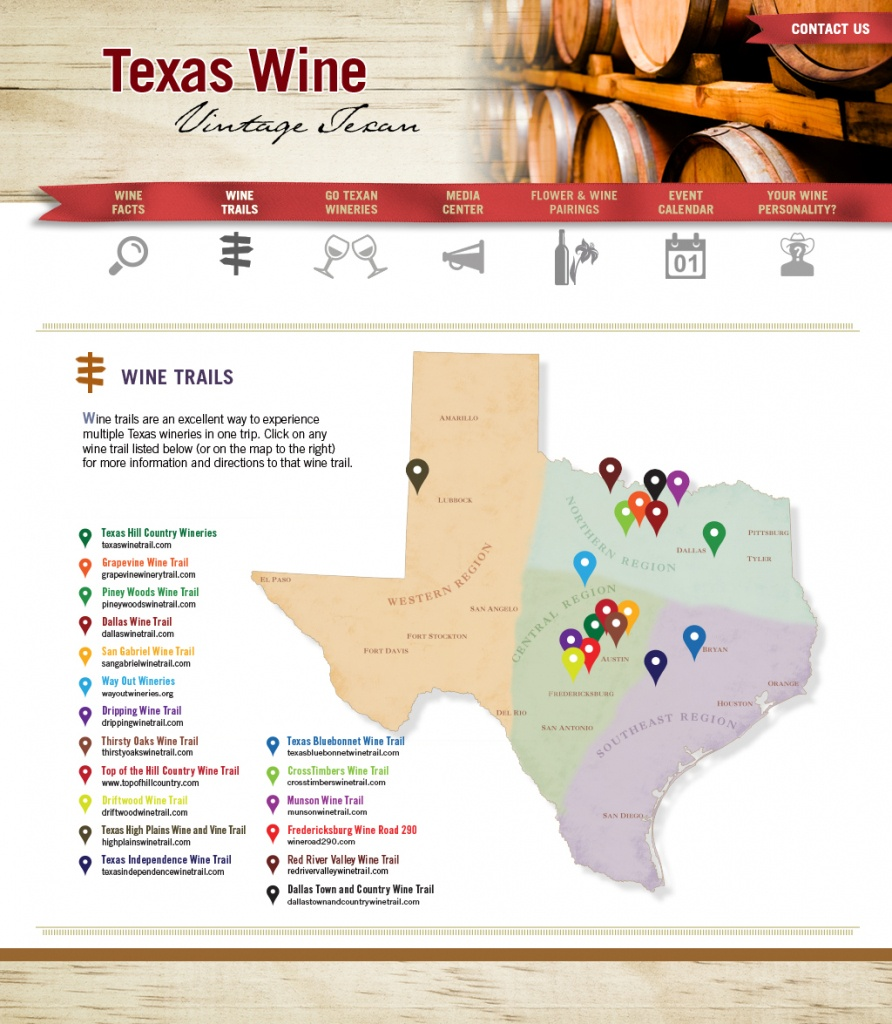 Texas Wine Trails - Texas Wine Trail Map