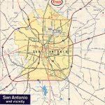 Texasfreeway > San Antonio > Historical Information > Old Road Maps   Detailed Map Of San Antonio Texas