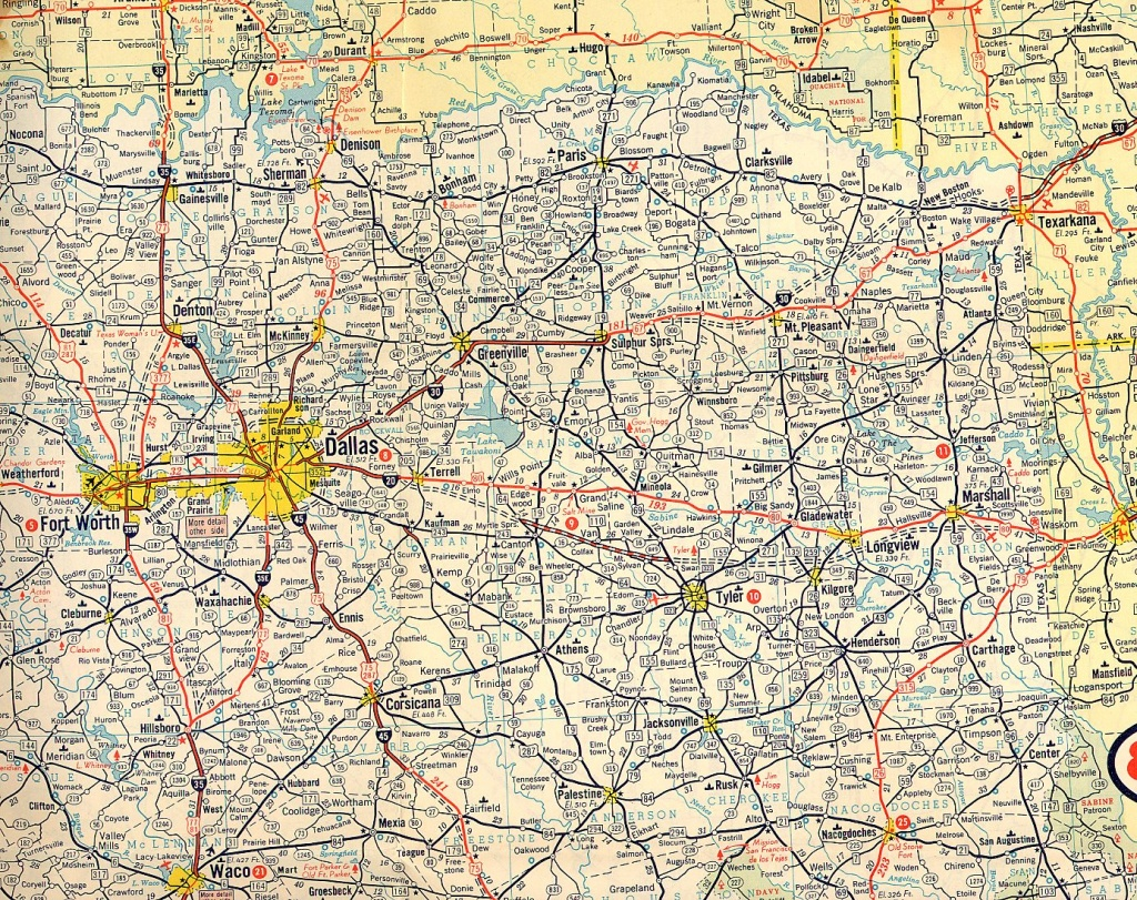 Texasfreeway > Statewide > Historic Information > Old Road Maps - North Texas Highway Map