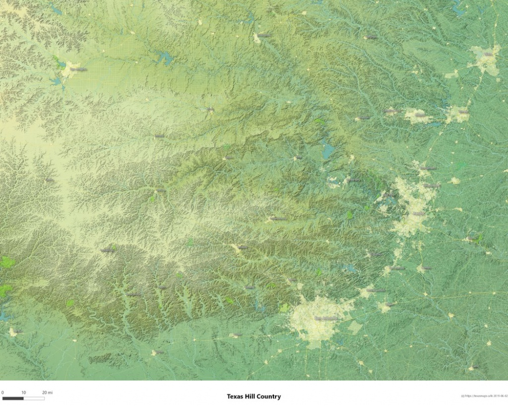 Texasmaps.cafe - Topographic Maps Of The Texas Hill Country, Lake - Topographical Map Of Texas Hill Country