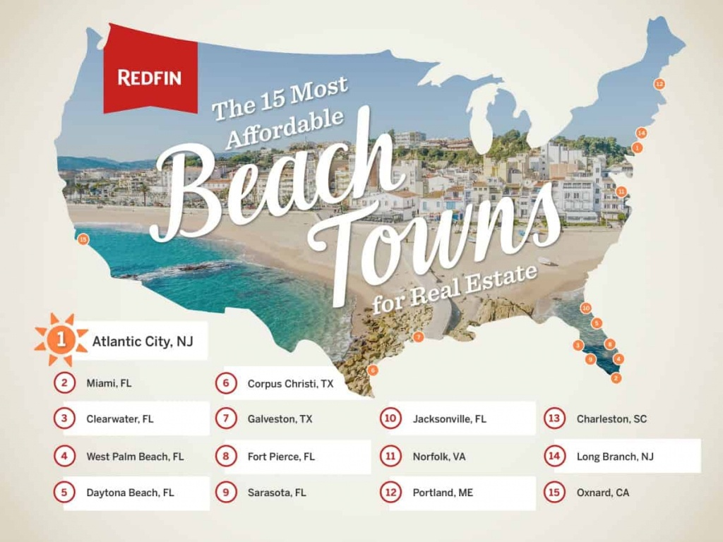 The 15 Most Affordable Beach Towns To Buy A Vacation Home - Redfin - Map Of Florida Gulf Coast Beach Towns