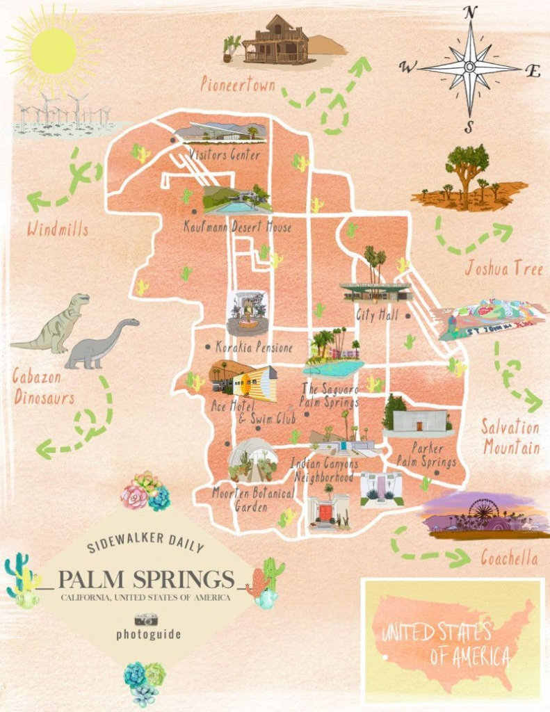 The 37 Best Places To Take Pictures In Palm Springs | Palm Springs - Map Of Palm Springs California And Surrounding Area
