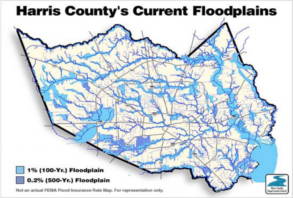 "The ""500-Year"" Flood, Explained: Why Houston Was So Underprepared - 100 Year Floodplain Map Texas"