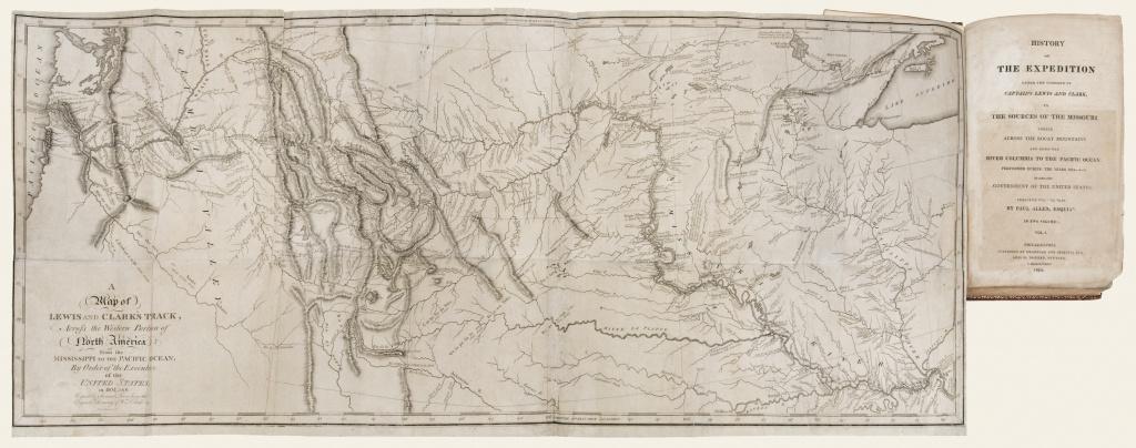 The Antiquarium - Antique Print & Map Gallery - Paul Allen - History - Lewis And Clark Printable Map