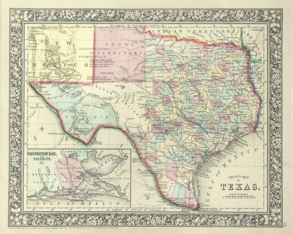 The Antiquarium - Antique Print & Map Gallery - Texas Maps - Vintage Texas Maps For Sale