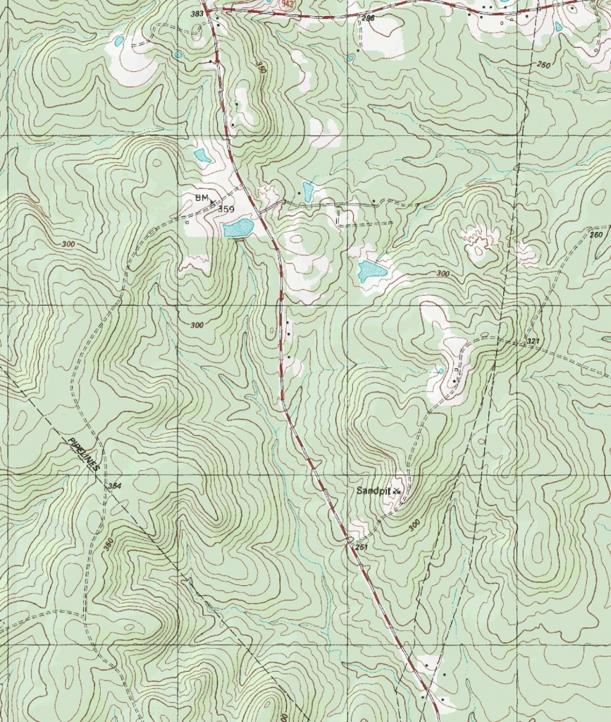 The Barefoot Peckerwood: Free Printable Topo Maps - Printable Topographic Map