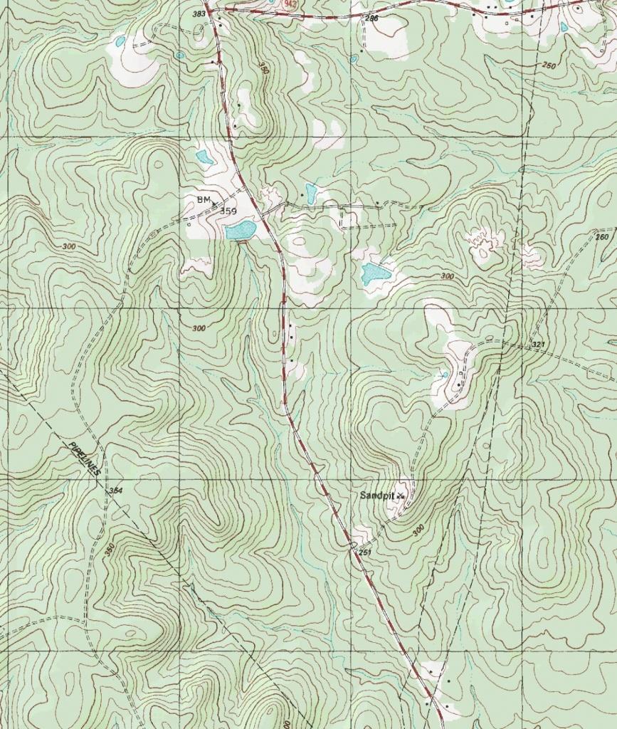 The Barefoot Peckerwood: Free Printable Topo Maps - Printable Topographic Map