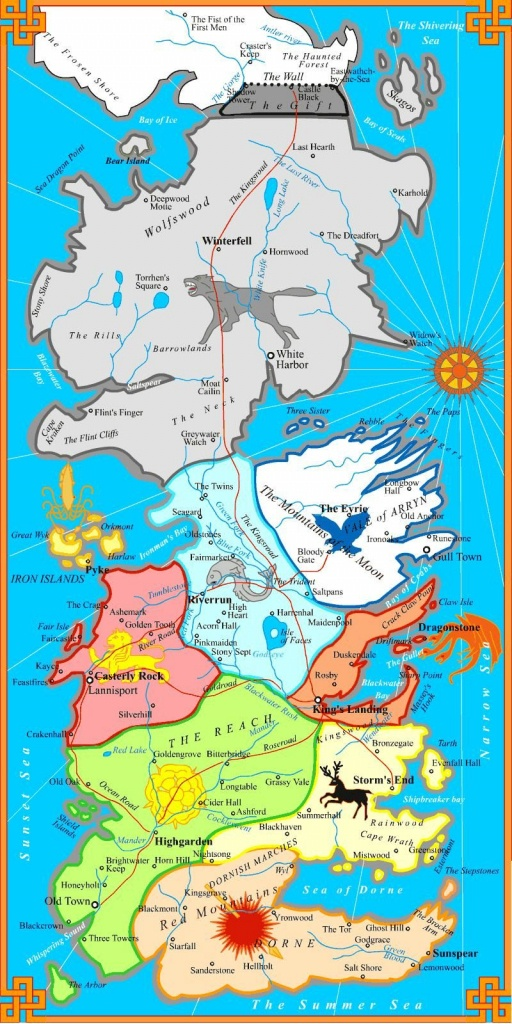 The Best Printable Map Of Westeros. Not Too Detailed To Print On One - Best Printable Maps
