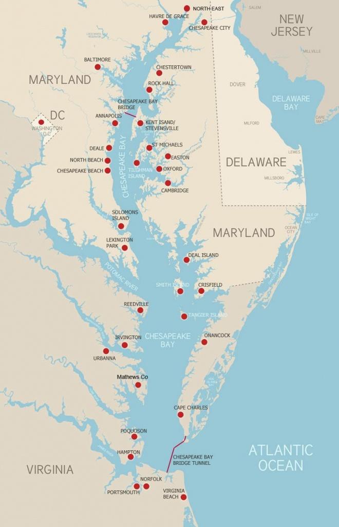 The Chesapeake Bay Explore The Chesapeake! Here's A Map To Help You - Printable Map Of Chesapeake Bay