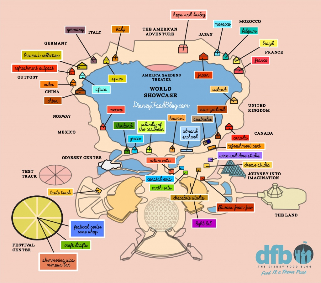 the disney food blog 2018 epcot food and wine festival map the printable epcot map Printable Epcot Map