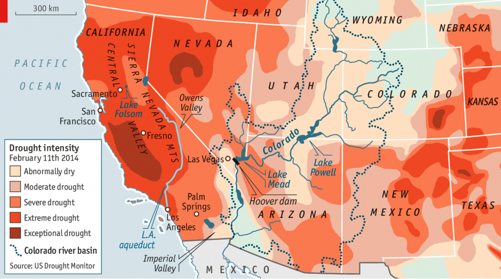 The Drying Of The West - Water - California Water Rights Map