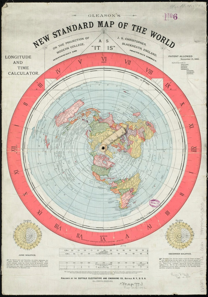 The Earth Is Not Flat!: Gleason's Map - Flat Map Of World Printable