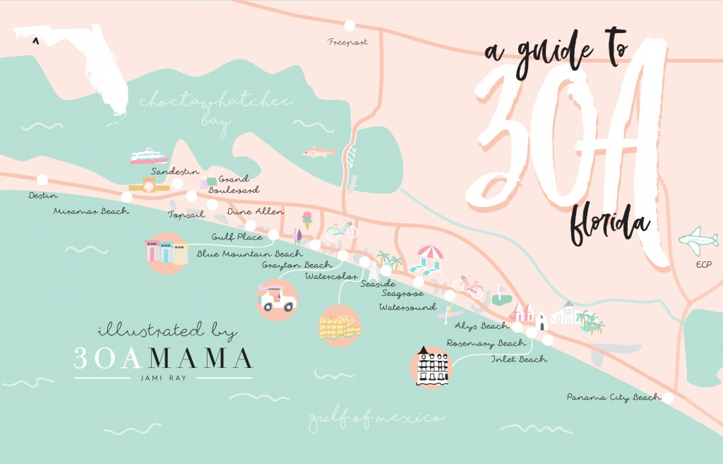 The Essential Guide To 30A - From A Local Mom - 30A Mama™ | Jami - Where Is Seagrove Beach Florida On A Map